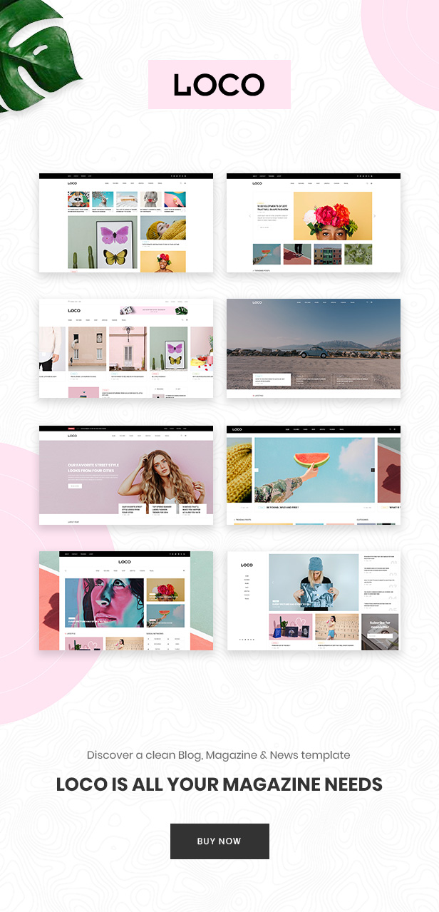 \ Loco – Fashion Magazine & Shop PSD Template Nulled Free Download info1